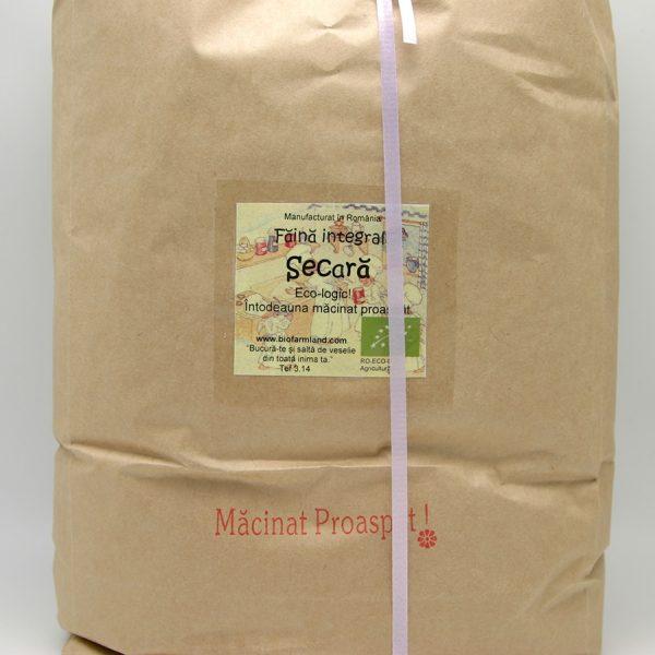 Făină ecologică integrală Secară - 5 kg