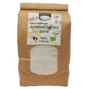 Făină ecologică integrală amestec pentru pâine - 1 kg