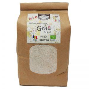 Făină ecologică integrală Grâu - 1 kg
