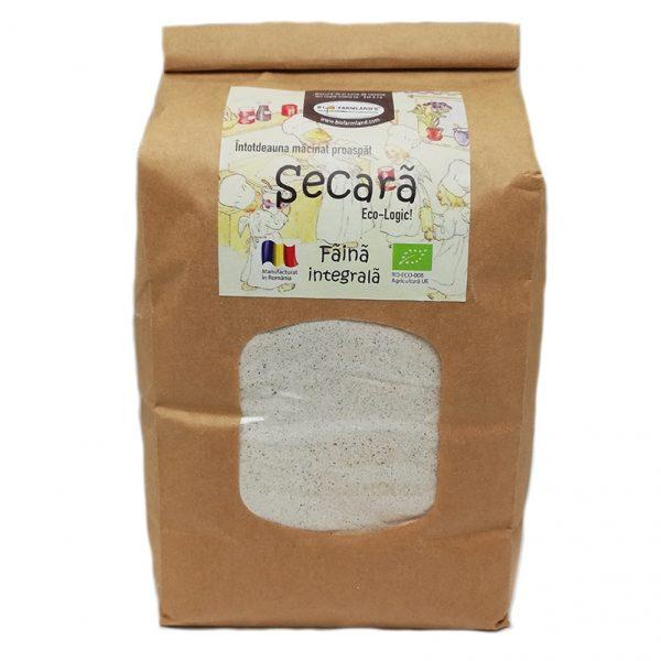 Făină ecologică integrală Secară - 1 kg